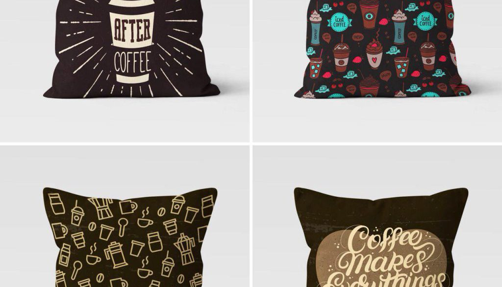 BANTAL SOFA MICROFIBER KOPI COFFEE SHOP